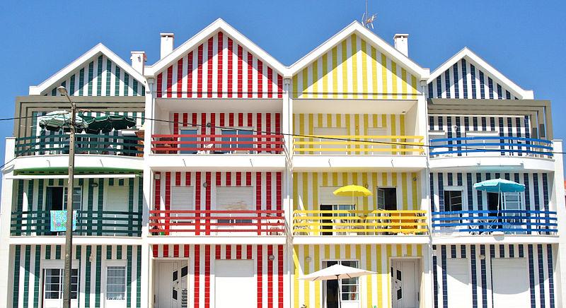 Houses on the coast of Aveiro
