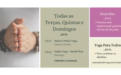 Aulas de Hatha e Nidra Yoga e Meditação
